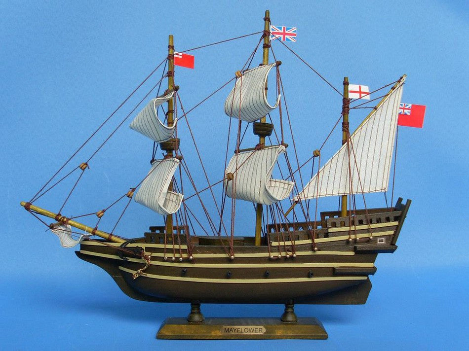 Historic Ship | Mayflower Wooden Tall Model Ship 14