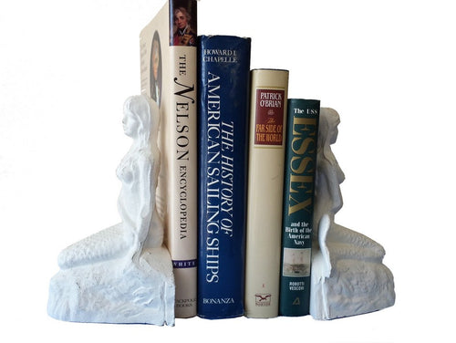 Bookends | Whitewash Cast Iron Mermaids 8