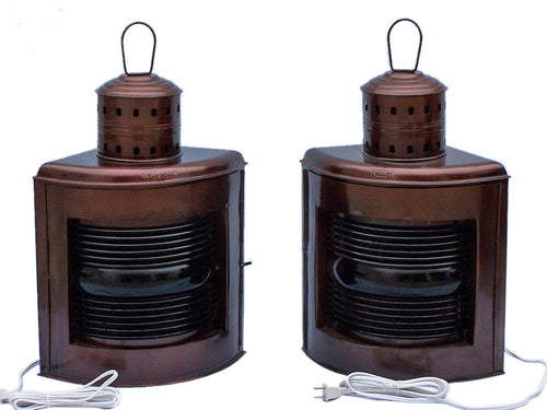 Lamp | Antique Copper Port and Starboard Electric 21