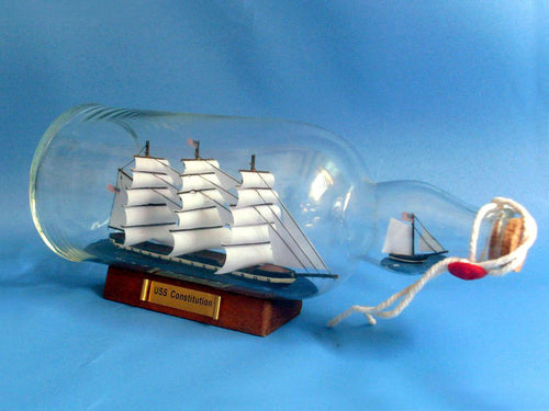 Old Ironsides - USS Constitution - Ship in a Bottle - 11