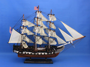 Historic Ship | USS Constitution Wooden Tall Ship 24""