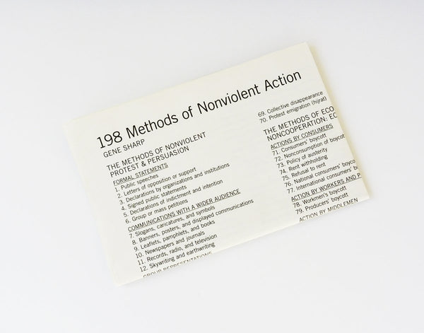 198 Methods of NonViolent Actions - Gene Sharp