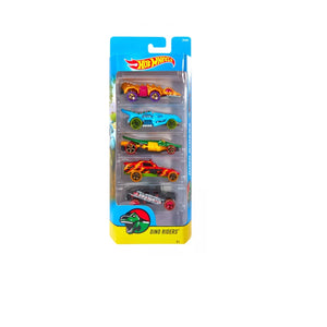 Hot Wheels  5 Cars Pack DINO RIDERS Hotwheels Pack