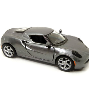 2013 Alfa Romeo 4C Die Cast 1:32 Scale Model Car ( GREY ) by Kinsmart