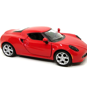 2013 Alfa Romeo 4C Die Cast 1:32 Scale Model Car ( RED ) by Kinsmart