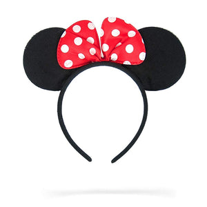 Jessie Minnie Mouse Ears Polka Dots Bow Headband (Red)