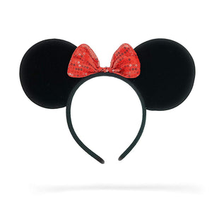 Jessie Minnie Mouse Ears Shimmer Dots Headband (Red)