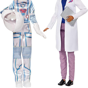 Barbie Friend Career Dolls Astronaut & Space Scientist FCP64-FCP65 (Pack of 2 doll)