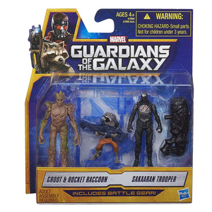 Marvel Guardians of The Galaxy Groot, Rocket Raccoon and Sakaaran Trooper Figure Pack