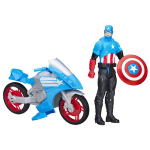 Marvel Titan Hero Series Captain America With Battle Cycle B6157-B5776