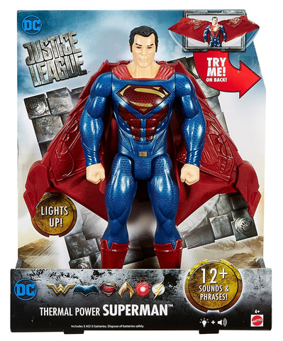 "DC Justice League Thermal Power Superman Figure, 12"" FGH04-FGH07"
