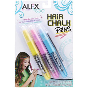 Alex Toys Spa 3 Hair Chalk Pens, Multi Color 237P