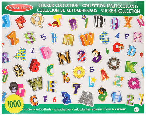 Melissa & Doug 4191 Sticker Collection-Alphabet and Numbers 4191