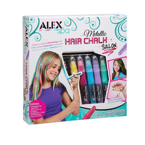 Alex Toys Spa Metallic Hair Chalk Salon, Multi Color 738WM
