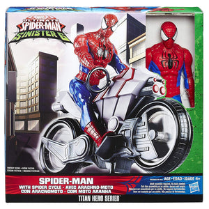 Spiderman with Spider Cycle - Ultimate Spider-Man vs. The Sinister Six
