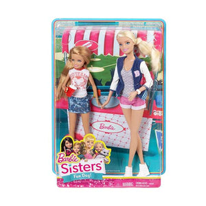 Barbie Sisters Barbie and Stacie, Pink/Blue/White (Pack of 2 Dolls ) CGF34-CGF35