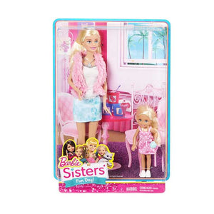 Barbie Sisters Barbie and Chelsea, White/Pink (Pack of 2) CGF34-CGT44