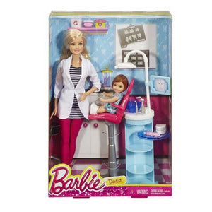 Barbie Doll Career Dentist and Playset , Multi Color DHB63-DHB64