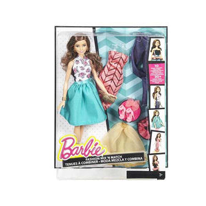 Barbie Doll Fashion Mix N Match Peach / Teal Gold DJW57-DJW59