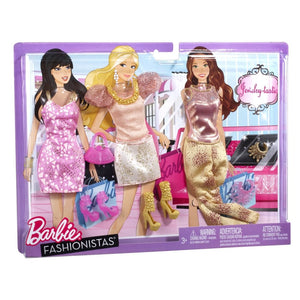 Barbie Fashionistas Day Looks Clothes - Glitter Jewels Outfits Clothing Shoe N8322-W3174