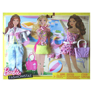 Barbie Fashionistas Day Looks Clothes - Bright Beach Outfits N8322-W3175