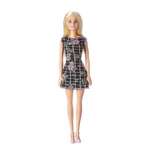 Barbie Pink-Tastic Doll, Floral Art On Black Dress T7439-DGX60
