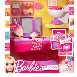 Mattel T7537 Barbie Bath To Beauty Bathroom Set T7537-T8007