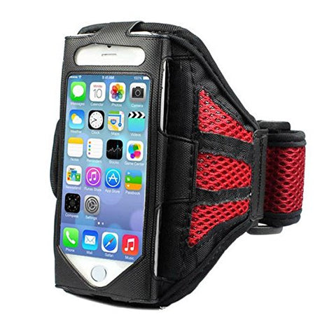 Sports Armband Mobile Phone Holder for Running Jogging Exercise ( RED )