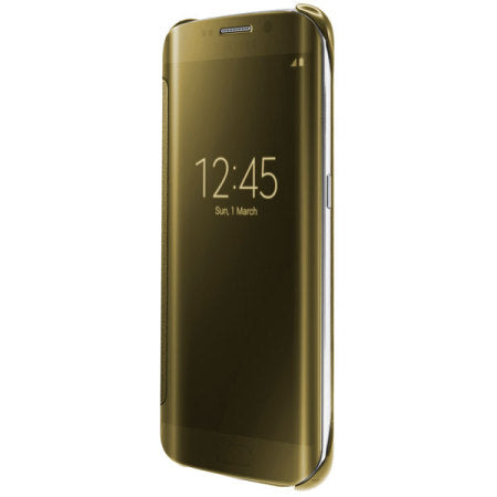 huge discount ff32c b3d01 Barrier® Clear View Mirror Finish Flip Cover for Samsung Galaxy S6 Edge -  Gold