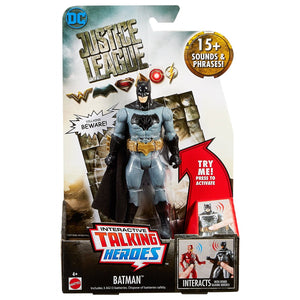 "Justice League 6"" Interactive Talking Heroes Action Figure - Batman"