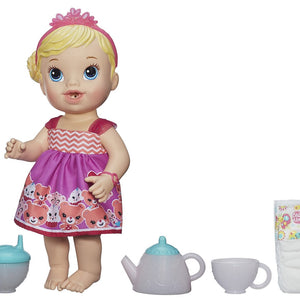 Hasbro Baby Alive Teacup Surprise Blond Baby Doll Tea Party  7125800