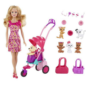 Barbie Doll Adorable Pets , Multi Color BCF82