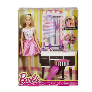 Barbie Doll  Playset Style Your Way DJP92