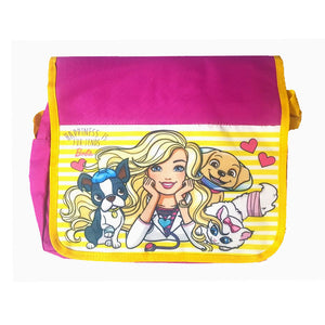 Barbie Sling Bag with Foldover Closure ( Pink & Yellow )
