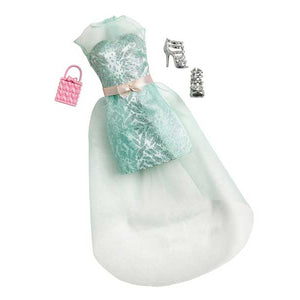 Barbie Doll Dress Complete Look Fashion 1 , Light green CFX92-CFX93 ( Dress for Barbie Dolls )