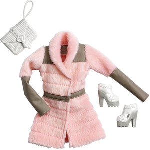 Barbie Doll Dress Complete Look Fashion 3, Peach  , CFX92-CFX95  ( Dress for Barbie Dolls )