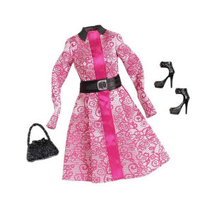Barbie Doll Dress Complete Look Fashion 4, Pink  CFX92-CFX96  ( Dress for Barbie Dolls )