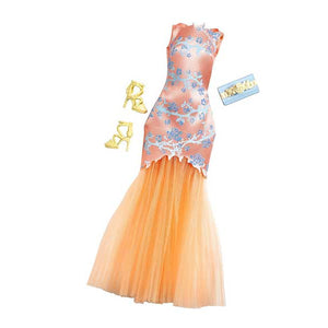 Barbie Doll Dress Complete Look Fashion 5, Peach  CFX92-CFX97  ( Dress for Barbie Dolls )