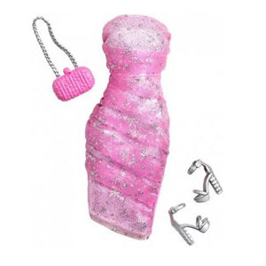 Barbie Doll Dress Complete Look Fashion 6, Pink  CFX92-CFX98  ( Dress for Barbie Dolls )
