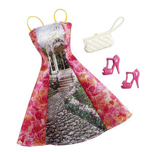 Barbie Doll Dress Complete Look Fashion 7, Red   , CFX92-CFX99  ( Dress for Barbie Dolls )