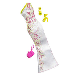 Barbie Doll Dress Complete Look Fashion 8, White  , CFX92-CFY00  ( Dress for Barbie Dolls )