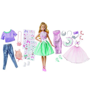 Barbie Doll Fashion Activity Giftset DVJ64