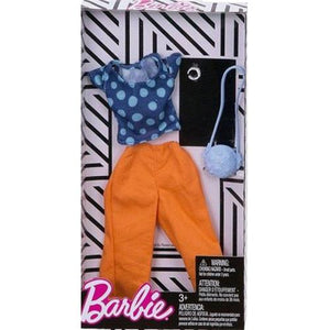 Barbie FASHIONISTAS Complete Look Fashion Pack Polka Dot Top Peach Pants FND47-FKR98