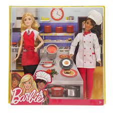 Barbie Friend Career Dolls Chef & Waiter FCP64-FCP66  (Pack of 2 dolls)