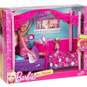 Barbie Glam Bedroom Furniture and Doll Set Y1319