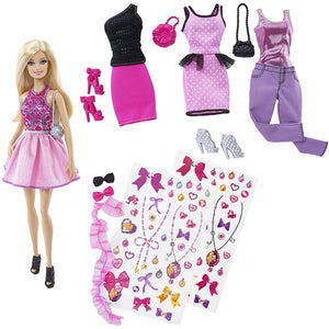 Barbie Doll Fashion Activity Gift Set CDM12