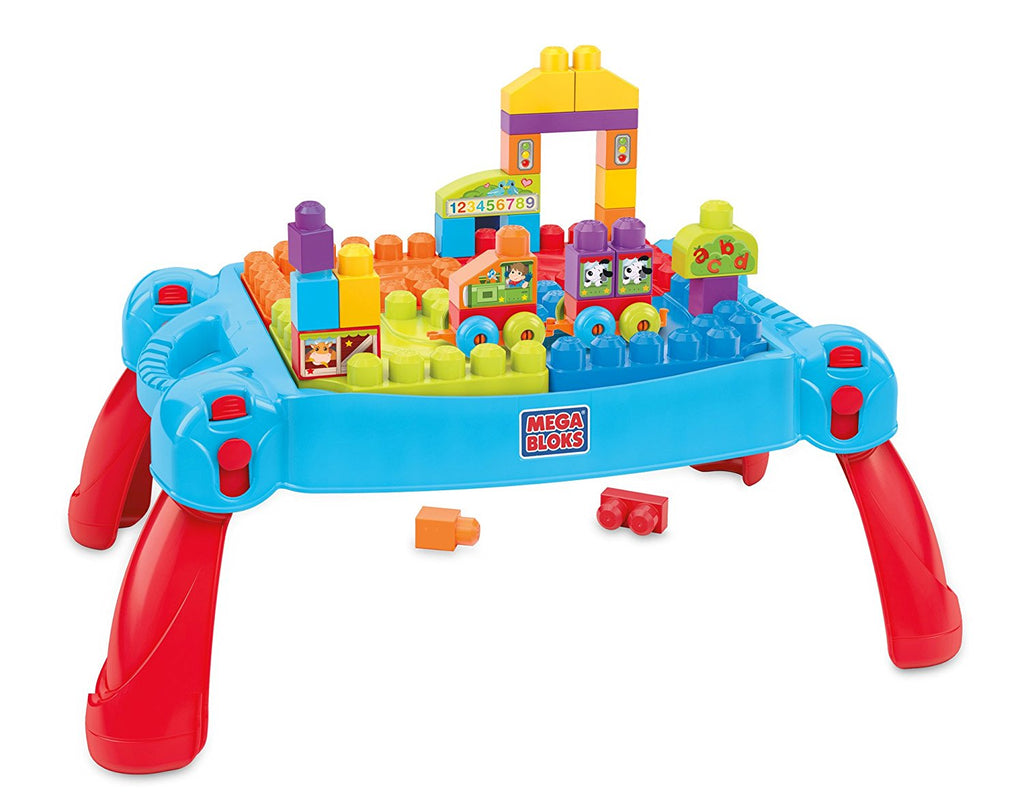 Mega Block Fisher Price First Builders Build and Learn Table ...