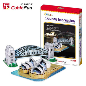 "Cubic Fun ""Sydney Impression"" C090h 59 Pieces  3D Puzzle DIY-Series"
