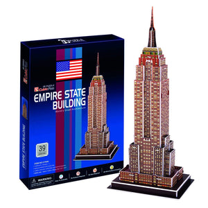 Cubic Fun C704H Empire State Building 3D Puzzle, 39 Pieces