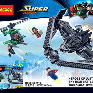 DECOOL 7118 Super Heroes Justice Sky High Battle